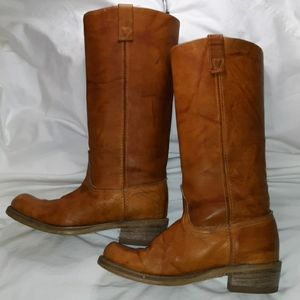 Vintage '70s Acme Tall Leather Western Boots 7½C